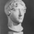 Roman. <em>Head, Apollo of the Omphalos</em>, 1st century C.E. copy of a 480 B.C.E. original. Marble, 12 11/16 x 7 5/8 in. (32.3 x 19.3 cm). Brooklyn Museum, Purchased with funds given by A. Augustus Healy and Robert B. Woodward Memorial Fund, 18.166. Creative Commons-BY (Photo: Brooklyn Museum, CUR.18.166_NegM_print_bw.jpg)