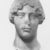 Roman. <em>Head, Apollo of the Omphalos</em>, 1st century C.E. copy of a 480 B.C.E. original. Marble, 12 11/16 x 7 5/8 in. (32.3 x 19.3 cm). Brooklyn Museum, Purchased with funds given by A. Augustus Healy and Robert B. Woodward Memorial Fund, 18.166. Creative Commons-BY (Photo: Brooklyn Museum, CUR.18.166_NegN_print_bw.jpg)