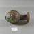 Roman. <em>Sprinkler</em>, 4th-5th century C.E. Glass, 4 1/2 x Diam. 2 11/16 in. (11.5 x 6.8 cm). Brooklyn Museum, Robert B. Woodward Memorial Fund, 19.12. Creative Commons-BY (Photo: Brooklyn Museum, CUR.19.12_view2.jpg)