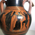 In the manner of Lysippides Painter. <em>Black-Figure Amphora</em>, ca. 530 B.C.E. Clay, slip, Height: 22 1/4 in. (56.5 cm). Brooklyn Museum, Gift of Mr. and Mrs. Paul E. Manheim, 1991.204.2. Creative Commons-BY (Photo: , CUR.1991.204.2_view03.jpg)