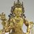 Nepalese. <em>Bodhisattva, Perhaps Avalokiteshvara Padmapani</em>, ca. 1600. Gilt bronze, Height: 6 3/4 in. (17.1 cm). Brooklyn Museum, Gift of Joseph H. Hazen, 1993.104.4. Creative Commons-BY (Photo: , CUR.1993.104.4_detail01.jpg)