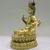Nepalese. <em>Bodhisattva, Perhaps Avalokiteshvara Padmapani</em>, ca. 1600. Gilt bronze, Height: 6 3/4 in. (17.1 cm). Brooklyn Museum, Gift of Joseph H. Hazen, 1993.104.4. Creative Commons-BY (Photo: , CUR.1993.104.4_side.jpg)