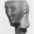 Ancient Near Eastern. <em>Head from a Votive Statue</em>, 2nd century B.C.E.-1st century C.E. Alabaster, 7 11/16 x 5 11/16 in. (19.5 x 14.4 cm). Brooklyn Museum, Bequest of Mrs. Carl L. Selden, 1996.146.2. Creative Commons-BY (Photo: , CUR.1996.146.2_NegB_print_bw.jpg)