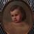 Unknown (American). <em>Marjorie Mead</em>, ca. 1895. Oil on artist's board, 16 3/4 x 13 7/8 in. (42.5 x 35.2 cm) (oval). Brooklyn Museum, Gift of the American Art Council, 1999.54.6 (Photo: Brooklyn Museum, CUR.1999.54.6.jpg)