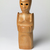 Sargent Claude Johnson (American, 1888-1967). <em>Untitled (Standing Woman)</em>, ca. 1933-1935. Terracotta, paint, surface coating, Overall: 14 1/4 x 4 x 3 1/2 in. (36.2 x 10.2 x 8.9 cm). Brooklyn Museum, Gift of the Estate of Emil Fuchs and Mr. and Mrs. Sidney Steinhauer, by exchange, Robert B. Woodward Memorial Fund, and Mary Smith Dorward Fund, 2010.2 (Photo: Image courtesy of Swann Auction Galleries, CUR.2010.2_Swann_Auction_photograph.jpg)