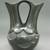 Madeline Naranjo (Kah'p'oo Owinge (Santa Clara Pueblo), born 1915). <em>Blackware Wedding Vase</em>, 1970s. Clay, pigment, 8 1/2 x 6 1/2 in. (21.6 x 16.5 cm). Brooklyn Museum, Gift of Joan and Sanford Krotenberg, 2013.64.1. Creative Commons-BY (Photo: Brooklyn Museum, CUR.2013.64.1_view1.jpg)