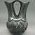 Madeline Naranjo (Kah'p'oo Owinge (Santa Clara Pueblo), born 1915). <em>Blackware Wedding Vase</em>, 1970s. Clay, pigment, 8 1/2 x 6 1/2 in. (21.6 x 16.5 cm). Brooklyn Museum, Gift of Joan and Sanford Krotenberg, 2013.64.1. Creative Commons-BY (Photo: Brooklyn Museum, CUR.2013.64.1_view2.jpg)