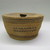 Makah. <em>Lidded Basket</em>, 1930s. Red cedar bark, diameter: 6 1/2 in. (16.5 cm). Brooklyn Museum, Gift of the Edward J. Guarino Collection in honor of Kathleen Guarino-Burns, 2013.82.12a-b. Creative Commons-BY (Photo: , CUR.2013.82.12a-b_view01.jpg)
