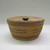 Makah. <em>Lidded Basket</em>, 1930s. Red cedar bark, diameter: 6 1/2 in. (16.5 cm). Brooklyn Museum, Gift of the Edward J. Guarino Collection in honor of Kathleen Guarino-Burns, 2013.82.12a-b. Creative Commons-BY (Photo: , CUR.2013.82.12a-b_view02.jpg)