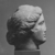 Greek. <em>Head of a Woman</em>. Marble, 9 1/4 × 7 11/16 × 7 1/2 in. (23.5 × 19.5 × 19 cm). Brooklyn Museum, Robert B. Woodward Memorial Fund, 24.434. Creative Commons-BY (Photo: , CUR.24.434_NegC_print_bw.jpg)