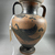 Attributed to Macali Painter. <em>Black-Figure Amphora</em>, 500 B.C.E. Clay, slip, 11 5/8 × Diam. of body 7 1/2 in. (29.5 × 19.1 cm). Brooklyn Museum, Gift of Bianca Olcott, 29.2. Creative Commons-BY (Photo: Brooklyn Museum, CUR.29.2_view11.jpg)