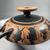 Greek. <em>Black-Figure Kylix</em>, 500-490 B.C.E. Clay, slip, 3 1/8 x Diam. 10 3/8 in. (8 x 26.3 cm). Brooklyn Museum, Frederick Loeser Fund, 33.399. Creative Commons-BY (Photo: Brooklyn Museum, CUR.33.399_view09.jpg)