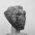 <em>Queen Tiye</em>, ca. 1352-1336 B.C.E. Sandstone, 3 3/4 × 3 × 3 1/2 in., 1.5 lb. (9.5 × 7.6 × 8.9 cm, 0.68kg). Brooklyn Museum, Charles Edwin Wilbour Fund, 33.55. Creative Commons-BY (Photo: , CUR.33.55_NegA_print_bw.jpg)
