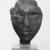 <em>Queen Tiye</em>, ca. 1352-1336 B.C.E. Sandstone, 3 3/4 × 3 × 3 1/2 in., 1.5 lb. (9.5 × 7.6 × 8.9 cm, 0.68kg). Brooklyn Museum, Charles Edwin Wilbour Fund, 33.55. Creative Commons-BY (Photo: , CUR.33.55_NegB_print_bw.jpg)
