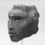<em>Queen Tiye</em>, ca. 1352-1336 B.C.E. Sandstone, 3 3/4 × 3 × 3 1/2 in., 1.5 lb. (9.5 × 7.6 × 8.9 cm, 0.68kg). Brooklyn Museum, Charles Edwin Wilbour Fund, 33.55. Creative Commons-BY (Photo: , CUR.33.55_NegD_print_bw.jpg)