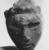 <em>Queen Tiye</em>, ca. 1352-1336 B.C.E. Sandstone, 3 3/4 × 3 × 3 1/2 in., 1.5 lb. (9.5 × 7.6 × 8.9 cm, 0.68kg). Brooklyn Museum, Charles Edwin Wilbour Fund, 33.55. Creative Commons-BY (Photo: , CUR.33.55_NegF_print_bw.jpg)
