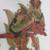 <em>Shadow Play Figure (Wayang kulit)</em>. Leather, pigment, wood, fiber, metal, 21 1/16 × 11 13/16 in. (53.5 × 30 cm). Brooklyn Museum, Brooklyn Museum Collection, 34.64. Creative Commons-BY (Photo: , CUR.34.64_detail1.jpg)