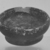 Attic. <em>Miniature Bowl</em>, 4th century B.C.E. (probably). Clay, slip, 9/16 x Diam. 1 1/4 in. (1.4 x 3.2 cm). Brooklyn Museum, Charles Edwin Wilbour Fund, 34.724. Creative Commons-BY (Photo: Brooklyn Museum, CUR.34.724_print_cropped_bw.jpg)