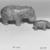 <em>Hippo</em>, ca. 1938-1539 B.C.E. Faience, 3 × 2 1/4 × 4 1/2 in. (7.6 × 5.7 × 11.4 cm). Brooklyn Museum, Charles Edwin Wilbour Fund, 35.1276. Creative Commons-BY (Photo: , CUR.35.1276_36.120_NegID_L335_9_print_bw.jpg)