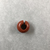 <em>Penannular Earring</em>. Red jasper, Diam. 7/16 × 3/4 in. (1.1 × 1.9 cm). Brooklyn Museum, Charles Edwin Wilbour Fund, 37.1954E. Creative Commons-BY (Photo: , CUR.37.1954E_view01.jpg)