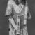 <em>Statue of Hori Represented as a Scribe</em>, ca. 1295-1185 B.C.E. Faience, 5 1/4 x 2 5/8 x 1 3/16 in. (13.3 x 6.6 x 3 cm). Brooklyn Museum, Charles Edwin Wilbour Fund, 37.257E. Creative Commons-BY (Photo: , CUR.37.257E_print1_bw.jpg)