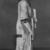 <em>Statue of Hori Represented as a Scribe</em>, ca. 1295-1185 B.C.E. Faience, 5 1/4 x 2 5/8 x 1 3/16 in. (13.3 x 6.6 x 3 cm). Brooklyn Museum, Charles Edwin Wilbour Fund, 37.257E. Creative Commons-BY (Photo: , CUR.37.257E_print2_bw.jpg)