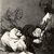 Francisco de Goya y Lucientes (Spanish, 1746-1828). <em>A Gift for the Master (Obsequio á el maestro)</em>, 1797-1798. Etching and aquatint on laid paper, Sheet: 11 7/8 x 8 in. (30.2 x 20.3 cm). Brooklyn Museum, A. Augustus Healy Fund, Frank L. Babbott Fund, and Carll H. de Silver Fund, 37.33.47 (Photo: Brooklyn Museum, CUR.37.33.47.jpg)