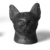 <em>Separate Head of a Cat Probably from a Small Sarcophagus</em>, 305-30 B.C.E. Bronze, 2 1/2 x 1 11/16 x 1 15/16 in. (6.3 x 4.3 x 4.9 cm). Brooklyn Museum, Charles Edwin Wilbour Fund, 37.428E. Creative Commons-BY (Photo: Brooklyn Museum, CUR.37.428E_neg_37.426E_grpC_bw.jpg)