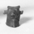 <em>Small Head of a Bull</em>, 305-30 B.C.E. Bronze, 1 1/4 x 1 7/16 x 1 3/8 in. (3.1 x 3.7 x 3.5 cm). Brooklyn Museum, Charles Edwin Wilbour Fund, 37.429E. Creative Commons-BY (Photo: Brooklyn Museum, CUR.37.429E_neg_37.426E_grpC_bw.jpg)
