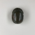 <em>Heart Scarab</em>, ca. 1539–1075 B.C.E. Stone (basalt?), 13/16 x 1 1/2 x 2 1/8 in. (2 x 3.8 x 5.4 cm). Brooklyn Museum, Charles Edwin Wilbour Fund, 37.488E. Creative Commons-BY (Photo: , CUR.37.488E_view01.jpg)