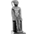 <em>Small Statuette of the Child Horus Seated</em>. Bronze, 1 3/4 x 9/16 x 1 in. (4.4 x 1.4 x 2.5 cm). Brooklyn Museum, Charles Edwin Wilbour Fund, 37.537E. Creative Commons-BY (Photo: , CUR.37.537E_NegID_37.537E_GRPA_print_cropped_bw.jpg)