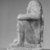 <em>Temple Block Statue of a Prince</em>, ca. 874-850 B.C.E. Limestone, 13 15/16 x 7 5/16 x 8 3/4 in. (35.4 x 18.5 x 22.2 cm). Brooklyn Museum, Charles Edwin Wilbour Fund, 37.595E. Creative Commons-BY (Photo: , CUR.37.595E_NegB_print_bw.jpg)