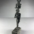 <em>Small Statuette of Horus Wearing an Elaborate Headdress</em>, 664-332 B.C.E. Bronze, 5 1/16 x 1 1/8 x 1 5/8 in. (12.8 x 2.9 x 4.2 cm). Brooklyn Museum, Charles Edwin Wilbour Fund, 37.691E. Creative Commons-BY (Photo: , CUR.37.691E_view01.jpg)