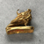<em>Small Amulet Representing a Falcon</em>. Gold, 9/16 × 3/16 × 9/16 in. (1.5 × 0.5 × 1.5 cm). Brooklyn Museum, Charles Edwin Wilbour Fund, 37.796E. Creative Commons-BY (Photo: , CUR.37.796E_view04.jpg)