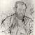 Jean-François Raffaëlli (French, 1850-1924). <em>Raffaelli, par lui-meme</em>, 1893. Drypoint etching and aquatint on heavy laid paper, 7 3/8 x 6 3/16 in. (18.7 x 15.7 cm). Brooklyn Museum, Charles Stewart Smith Memorial Fund, 38.350 (Photo: Brooklyn Museum, CUR.38.350.jpg)