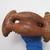 Fijian. <em>Reddish Brown Vessel</em>. Clay, 7 1/16 x 4 1/2 x 3 7/8 in. (18 x 11.5 x 9.8 cm). Brooklyn Museum, Gift of Percy C. Madeira, Jr., 42.244.15. Creative Commons-BY (Photo: , CUR.42.244.15_bottom.jpg)