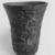 <em>Cup from a Relief-Decorated Chalice</em>, ca. 1070 B.C.E.-718 B.C.E. Faience, Height: 3 7/8 in. (9.9 cm). Brooklyn Museum, Charles Edwin Wilbour Fund, 49.133. Creative Commons-BY (Photo: , CUR.49.133_NegE_print_bw.jpg)