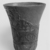 <em>Cup from a Relief-Decorated Chalice</em>, ca. 1070 B.C.E.-718 B.C.E. Faience, Height: 3 7/8 in. (9.9 cm). Brooklyn Museum, Charles Edwin Wilbour Fund, 49.133. Creative Commons-BY (Photo: , CUR.49.133_NegF_print_bw.jpg)