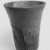 <em>Cup from a Relief-Decorated Chalice</em>, ca. 1070 B.C.E.-718 B.C.E. Faience, Height: 3 7/8 in. (9.9 cm). Brooklyn Museum, Charles Edwin Wilbour Fund, 49.133. Creative Commons-BY (Photo: , CUR.49.133_NegG_print_bw.jpg)