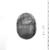 <em>Green Glazed Steatite Scarab</em>, ca. 1850-1860 C.E. Steatite, glaze, 13/16 x 1 7/8 x 2 1/2 in. (2 x 4.7 x 6.3 cm). Brooklyn Museum, Anonymous gift, 49.23. Creative Commons-BY (Photo: , CUR.49.23_NegB_print_bw.jpg)