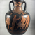 Lucanian. <em>Red-Figure Neck Amphora</em>, early 4th century B.C.E. Clay, slip, 19 3/4 × Diam. 10 7/16 in. (50.2 × 26.5 cm). Brooklyn Museum, Bequest of Mary Olcott in memory of her brother, George N. Olcott, and her grandfather, Charles Mann Olcott, one of the founders of the Brooklyn Institute of Arts and Sciences, 62.147.6. Creative Commons-BY (Photo: Brooklyn Museum, CUR.62.147.6_view01.jpg)