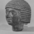 <em>Male Head</em>. Basalt, 4 13/16 x 4 x 4 5/16 in. (12.3 x 10.2 x 11 cm). Brooklyn Museum, Anonymous gift in memory of Mary E. Lever and H. Randolph Lever, 64.1.2. Creative Commons-BY (Photo: , CUR.64.1.2_NegF_print_bw.jpg)