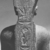 <em>Amun-Re or King Amunhotep III</em>, ca. 1403-1365 B.C.E. Quartzite, 7 11/16 x 5 5/8 x 3 15/16 in. (19.5 x 14.3 x 10 cm). Brooklyn Museum, Charles Edwin Wilbour Fund, 76.39. Creative Commons-BY (Photo: , CUR.76.39_NegID_L_703_15_print_bw.jpg)