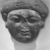 <em>Face from the Lid of a Sarcophagus</em>, ca. 1336-1250 B.C.E. Sandstone, 18 × 17 × 5 in. (45.7 × 43.2 × 12.7 cm). Brooklyn Museum, Charles Edwin Wilbour Fund, 85.166. Creative Commons-BY (Photo: , CUR.85.166_NegD_print_bw.jpg)