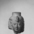 <em>Head of a Queen or Goddess</em>, ca. 230 B.C.E. Limestone, 4 1/4 x 3 1/8 in. (10.8 x 7.9 cm). Brooklyn Museum, Gift of the Ernest Erickson Foundation, Inc., 86.226.32. Creative Commons-BY (Photo: , CUR.86.226.32_NegA_print_bw.jpg)
