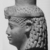 <em>Head of a Queen or Goddess</em>, ca. 230 B.C.E. Limestone, 4 1/4 x 3 1/8 in. (10.8 x 7.9 cm). Brooklyn Museum, Gift of the Ernest Erickson Foundation, Inc., 86.226.32. Creative Commons-BY (Photo: , CUR.86.226.32_NegID_L566_16A_print_bw.jpg)