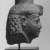 <em>Head of a Queen or Goddess</em>, ca. 230 B.C.E. Limestone, 4 1/4 x 3 1/8 in. (10.8 x 7.9 cm). Brooklyn Museum, Gift of the Ernest Erickson Foundation, Inc., 86.226.32. Creative Commons-BY (Photo: , CUR.86.226.32_NegID_L566_18A_print_bw.jpg)