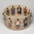 Carol Emarthle-Douglas (Northern Arapaho-Seminole, born 1959). <em>Cultural Burdens Basket</em>, 2016. Hemp, waxed linen thread, reed, hickory, red and yellow cedar bark, black ash, yucca, white oak bark, silk thread, sinew, pine needles, wood beads, and deer hide , 7 × 12 3/4 × 12 3/4 in. (17.8 × 32.4 × 32.4 cm). Lent by Suzanne M. And Brian L. Smith, L2019.4 (Photo: , L2019.4_view01_PS9.jpg)