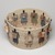 Carol Emarthle-Douglas (Northern Arapaho-Seminole, born 1959). <em>Cultural Burdens Basket</em>, 2016. Hemp, waxed linen thread, reed, hickory, red and yellow cedar bark, black ash, yucca, white oak bark, silk thread, sinew, pine needles, wood beads, and deer hide , 7 × 12 3/4 × 12 3/4 in. (17.8 × 32.4 × 32.4 cm). Lent by Suzanne M. And Brian L. Smith, L2019.4 (Photo: , L2019.4_view02_PS9.jpg)