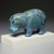 <em>Standing Hippopotamus</em>, ca. 1938-1539 B.C.E. Faience, 4 1/4 x 6 9/16 in. (10.8 x 16.7 cm). Anonymous loan, L48.7.19. Creative Commons-BY (Photo: , L48.7.19_SL3.jpg)